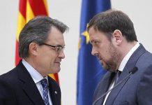 Artur Mas con Oriol Junqueras en diciembre de 2014