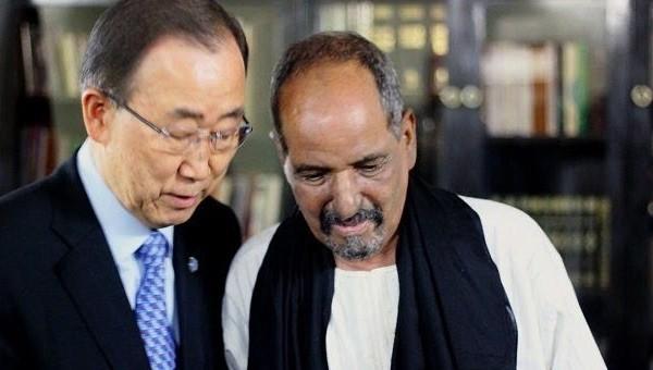 Mohamed Abdelaziz con Ban ki-Moon