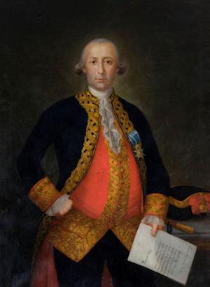 Bernardo de Gálvez, obra de Mariano Salvador Maella