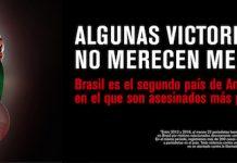 Cartel de la campaña de RSF sobre periodistas asesinados en Brasil