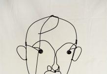 Alexander Calder: Portrait of Joan Miró/ Retrato de Joan Miró, c. 1930. Alambre de acero, 29 x 27 cm. Colección Particular en depósito temporal © Calder Foundation, New York/represented by Visual Entidad de gestión de Artistas Plásticos (VEGAP), Madrid, Spain, 2016.