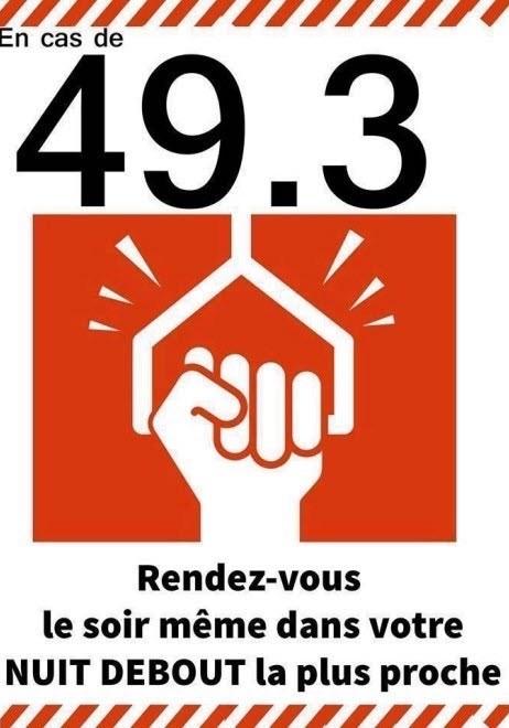 Cartel sindical contra el 49.3