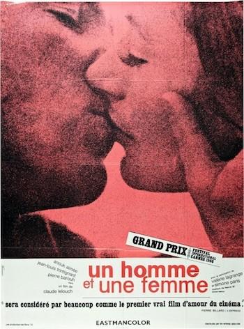 cartel de Un hombre y una mujer 1966