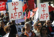 Protestas en Chile contra el sistema privado de pensiones