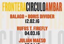 Cartel del ciclo de conciertos Frontera