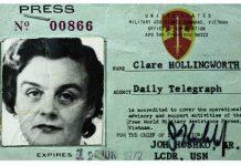 Clare Hollingworth, credencial