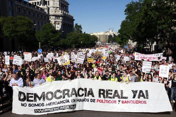 Manifestaciones de indignados del movimiento 15M en Madrid