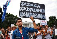 """Protestas contra la expulsión de los """"dreamers"""" de EE. UU."""