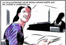 Viñeta de El Roto sobre el plagio en el ámbito universitario, publicada en el diario El País