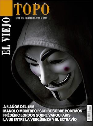El Viejo Topo, portada del número 340, mayo de 2016