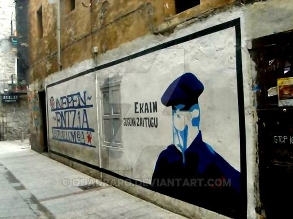 Murales por ETA en Gasteiz