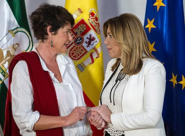 Francesca Fritz-Prugda y Susana Díaz