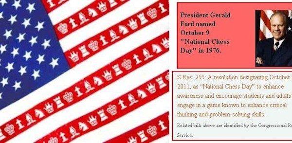Icono conmemorativo del Día Nacional del Ajedrez de Estados Unidos.