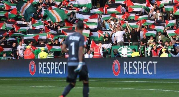 Mil banderas palestinas en el Celtic Park
