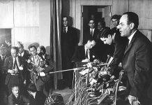 Gracia, golpe de estado, el jefe de la junta militar, coronel Georgios Papadópulos, ante la prensa