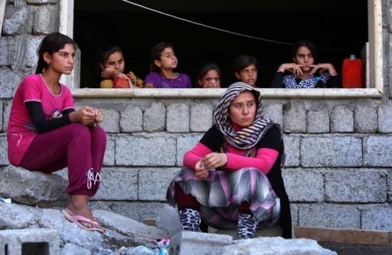 Mujeres yazidí refugiadas.