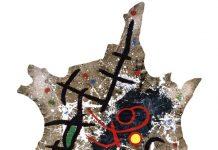 Joan Miró. Los pájaros se lanzan sobre nuestras sombras.1970. Antipintura.