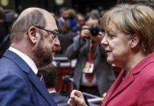 Martin Schulz y Angela Merkel