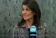 Nikki Haley en su primera comparecencia en la ONU