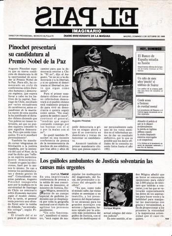Pais Imaginario, portada del 10 de octubre de 1986