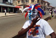 Partidario de Nana Akufo en Kumasi después de que se anunciaran los resultados. Crédito: Kwaku Botwe / IPS