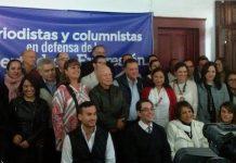 Periodistas y columnistas de varios medios de comunicación de Guatemala, exigen que la libertad de expresión sea respetada.
