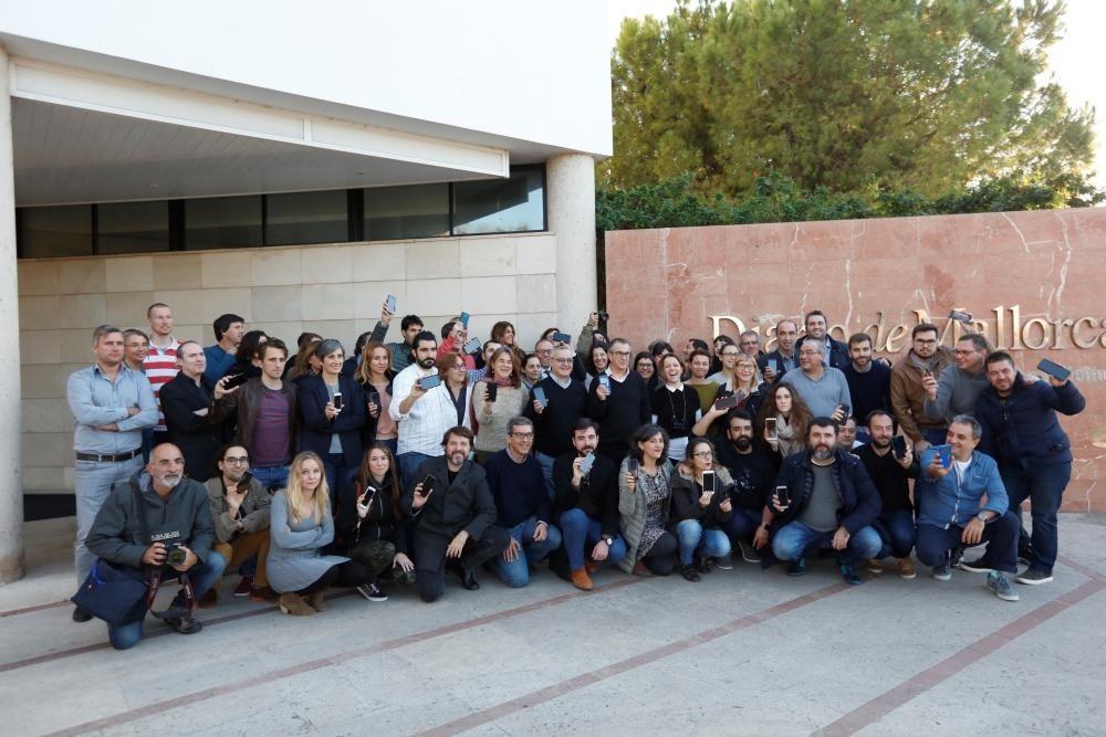 Los periodistas del diario de Mallorca se concentran por la libertad de información. Foto: G. Bosch ©