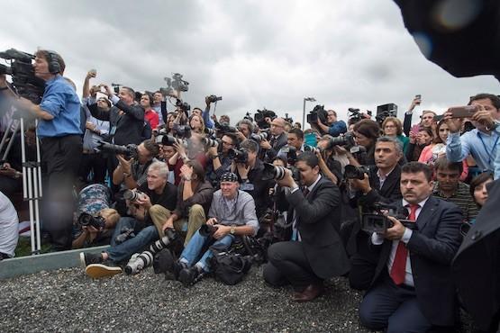 Foto de periodistas de Eskinder Debebe (ONU)