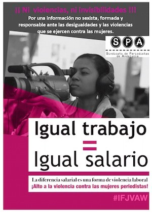 Campaña del Sindicato de Periodistas de Andalucía contra la discriminación salarial