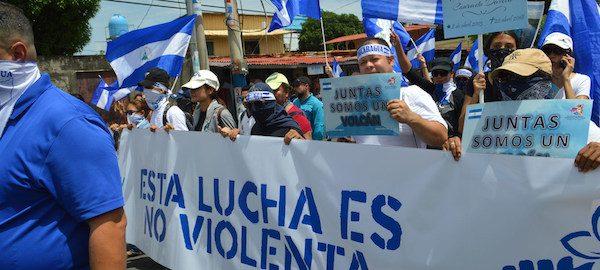 Protestas en Managua contra el gobierno de Daniel Ortega