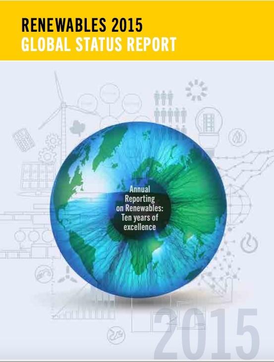 Portada del informe REN21 sobre 2015