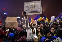 Rumania: protestas anticorrupcion en enero de 2017. Foto: ANDES/AFP