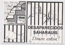 Saharauis desaparecidos, pegatina