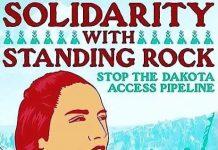 Cartel de solidaridad con los sioux de Standing Rock