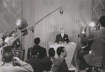 Primer día de TVE el 28 de octubre de 1956, discurso de Gabriel Arias Salgado