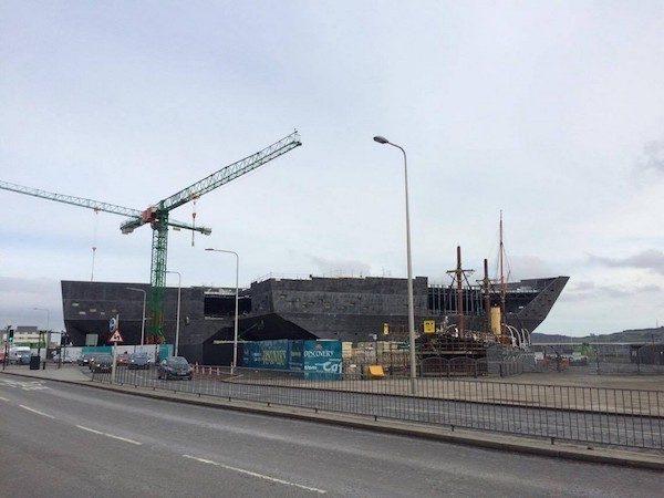 Obras del futuro Victoria & Albert Museum (V&A) de Dundee.