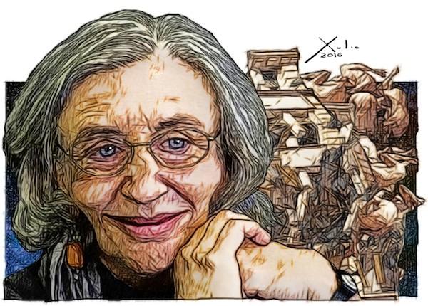 Clara Janés por Xulio Formoso.