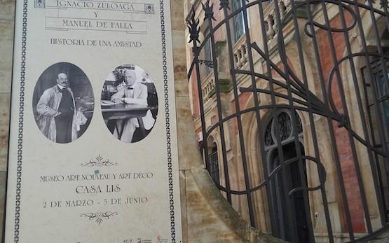 Cartel de la exposición Ignacio Zuloaga y Manuel de Falla: historia de una amistad', en el Museo Art Nouveau y Art Déco Casa Lis de Salamanca.